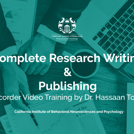 Complete Research Writing and Publishing Recorded Video Training by Dr. Hassaan Tohid
